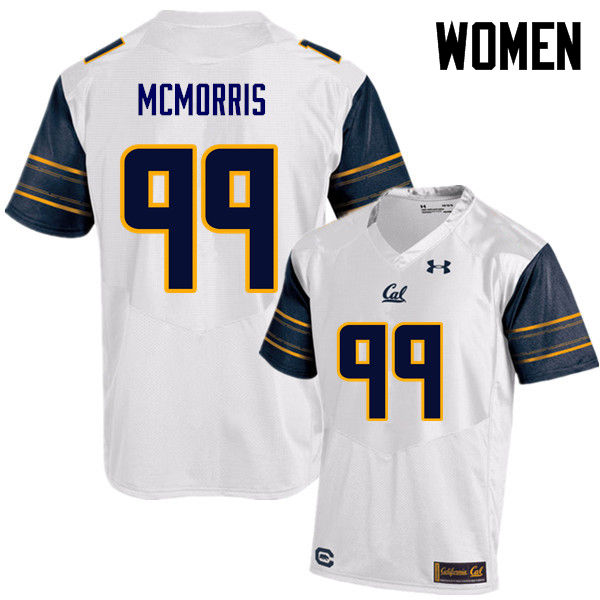 Women #99 Malik McMorris Cal Bears (California Golden Bears College) Football Jerseys Sale-White